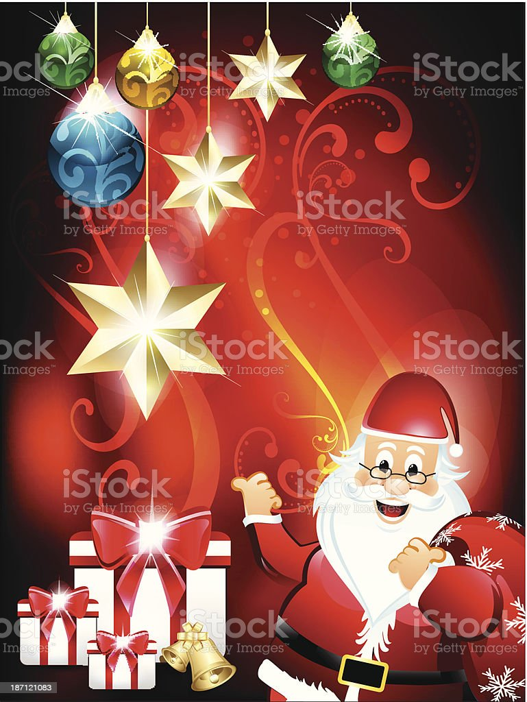 Christmas background with santa claus royalty-free christmas background with santa claus stock vector art & more images of beard