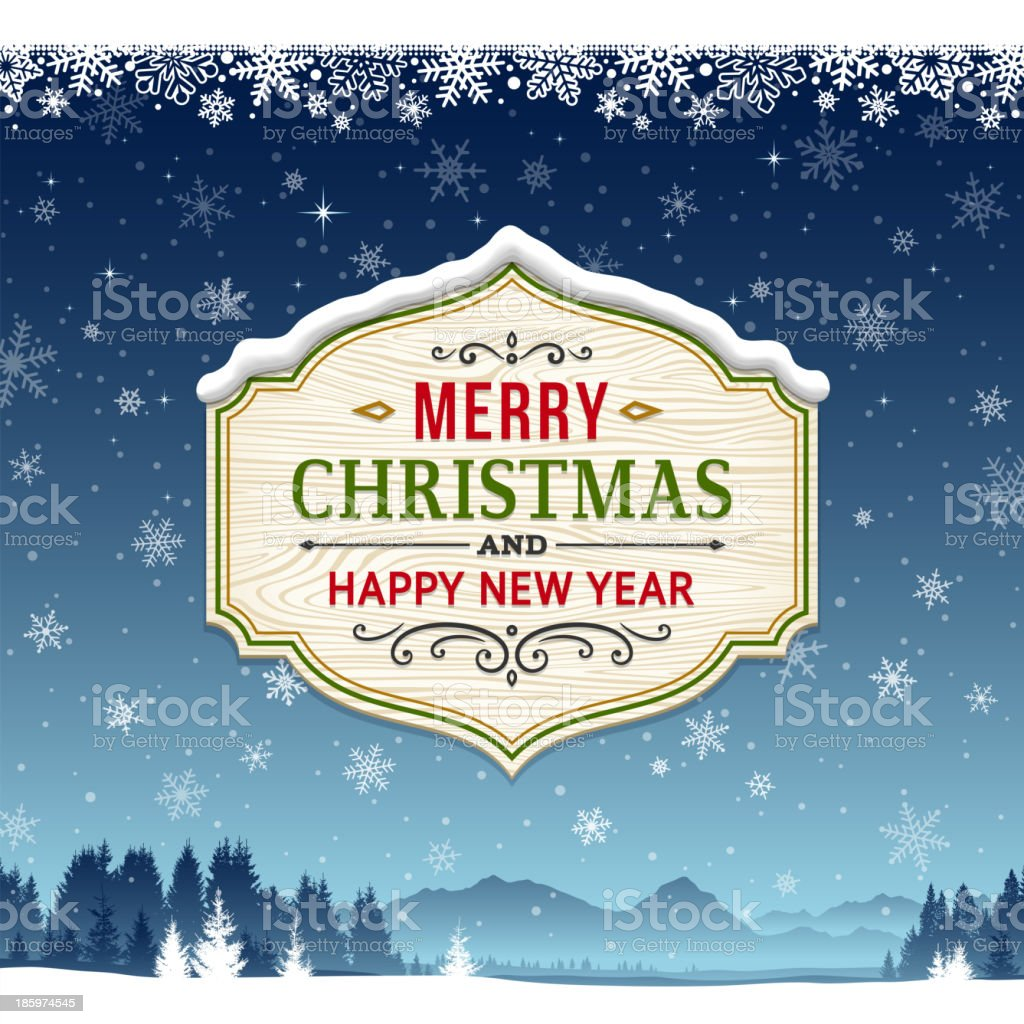 Christmas Background with Sign royalty-free stock vector art