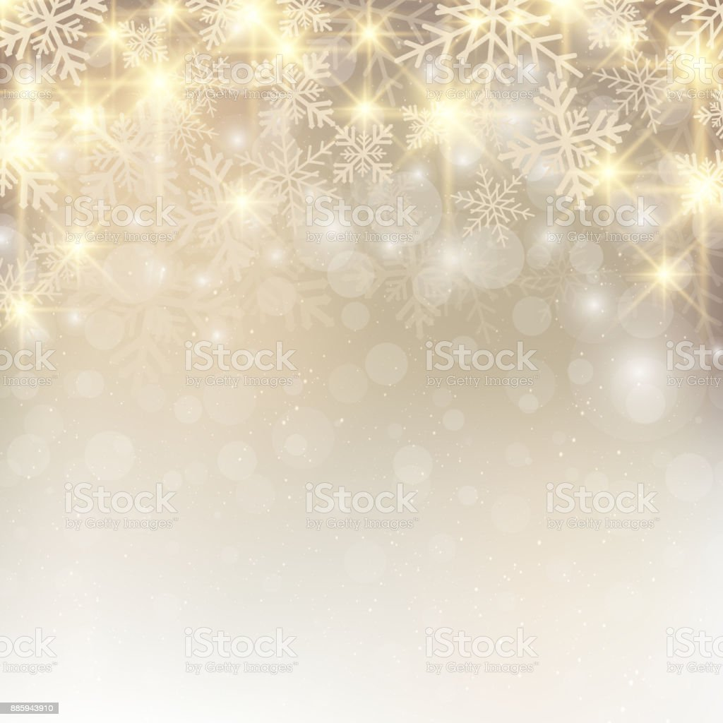 Christmas Background Images Gold.Christmas Background With Snow And Snowflakes Glitter On