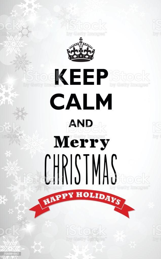 Fond De Noël Avec Des Flocons De Neige Et De La Citation De