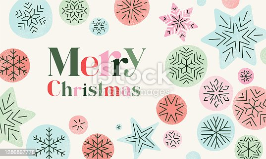 istock Christmas background with snowflakes 1286867778