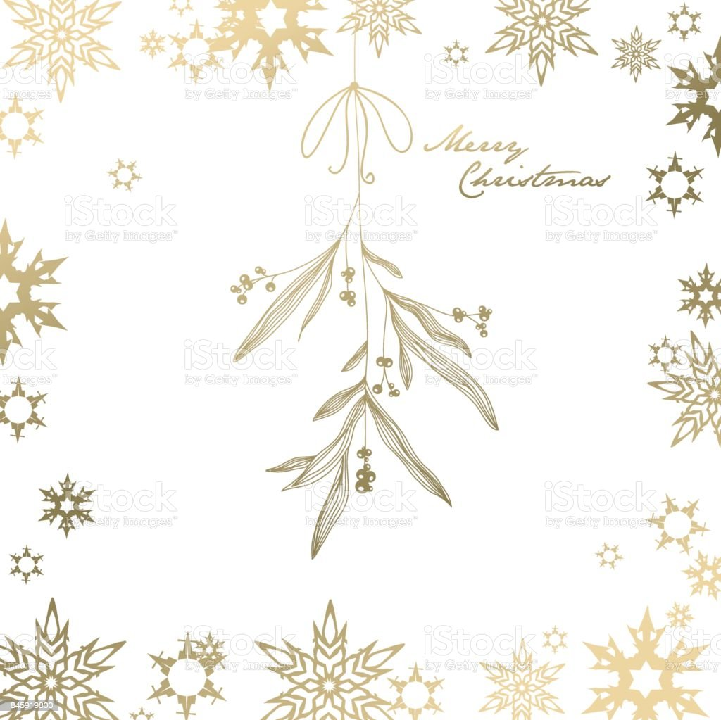 Christmas background with snowflakes. vector art illustration