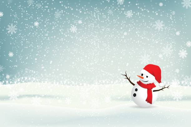 Christmas background with snowman. illustrator vector Eps 10. Christmas background with snowman. illustrator vector Eps 10. snowman stock illustrations