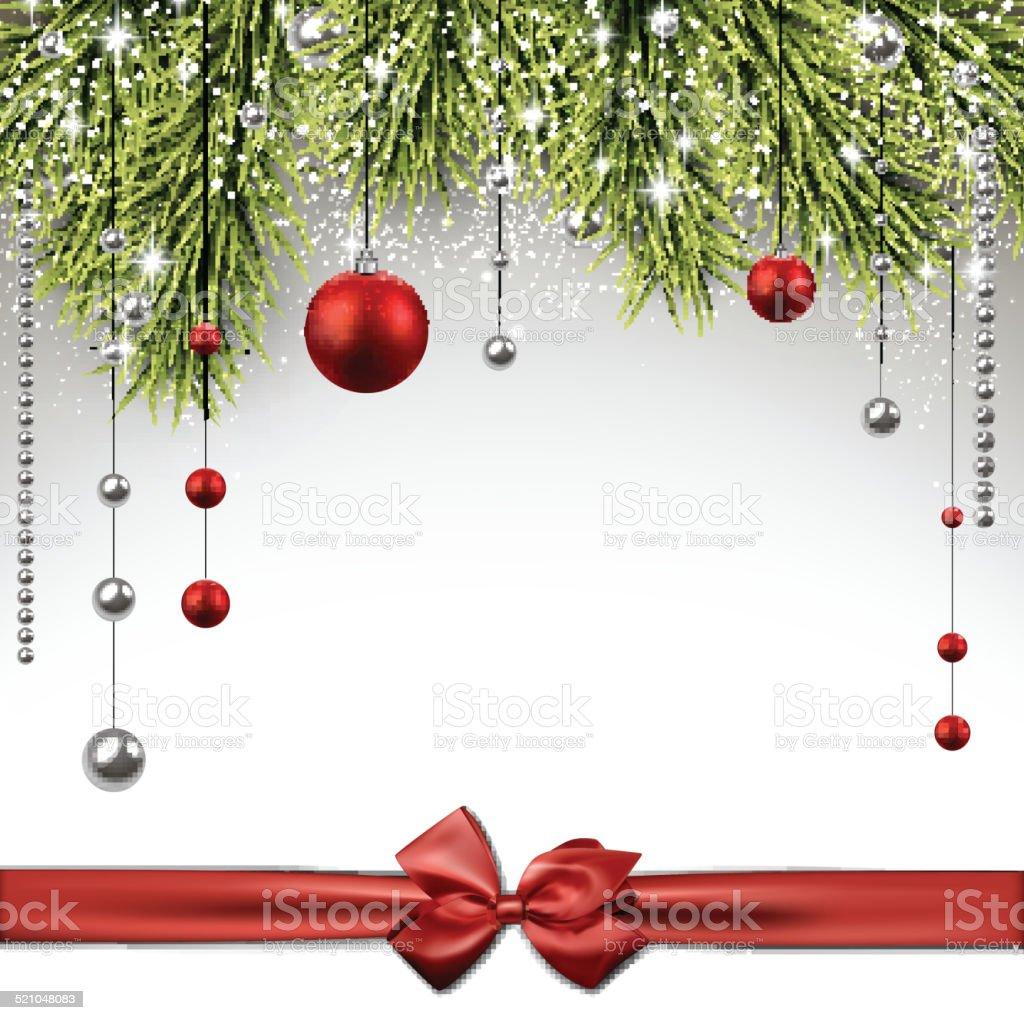 Sfondi Natalizi Eleganti.Sfondo Di Natale Con Abete Rami Immagini Vettoriali Stock E Altre
