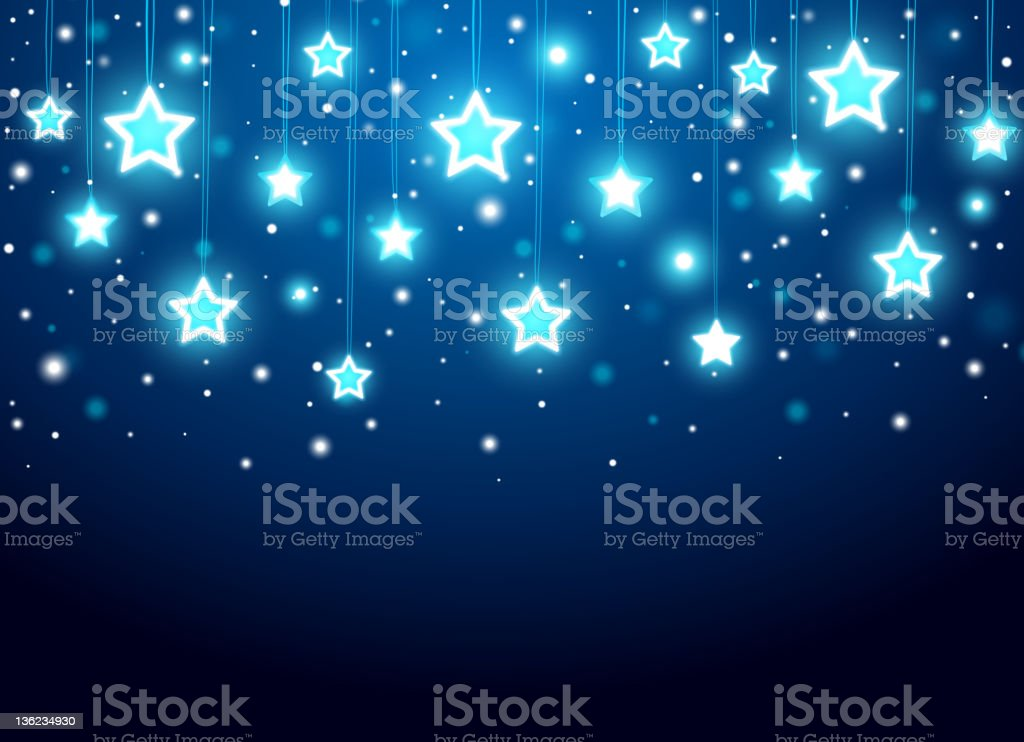 Christmas background with stars royalty-free stock vector art