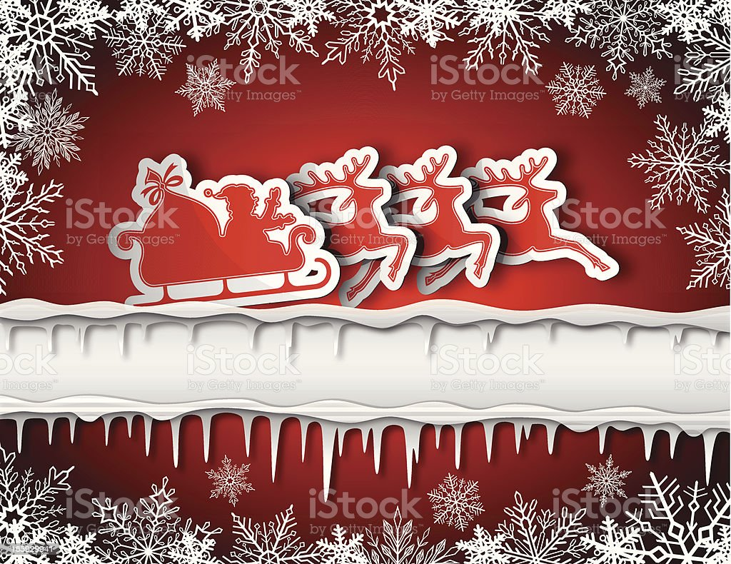 Christmas background with tags royalty-free stock vector art