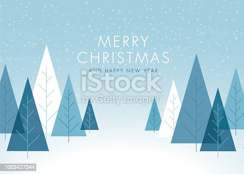 Christmas Background with Trees. - Illustration