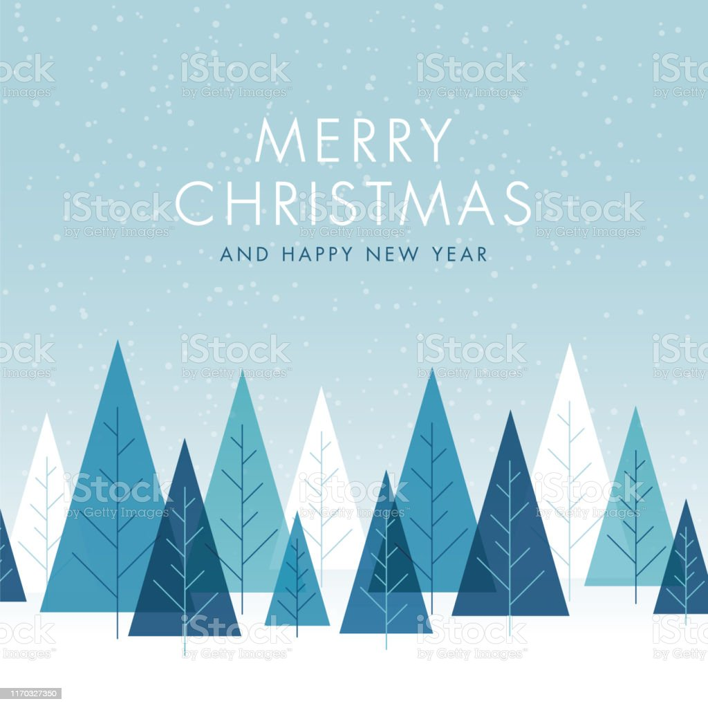 Fondo de Navidad con árboles. - arte vectorial de Abstracto libre de derechos