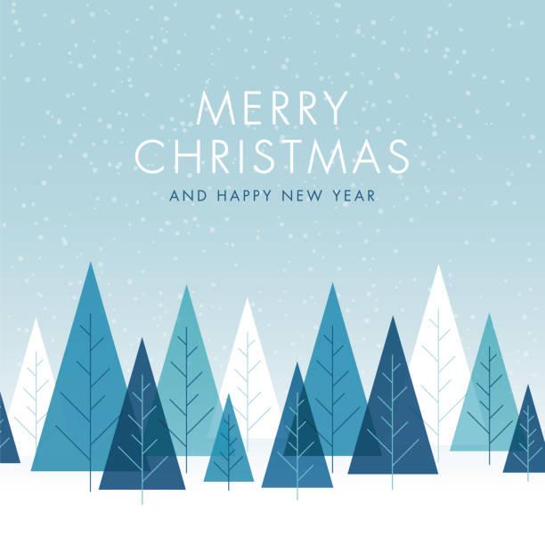ilustrações, clipart, desenhos animados e ícones de fundo do natal com árvores. - inverno