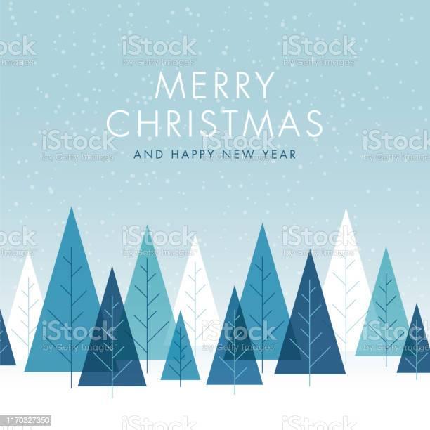 Ilustración de Fondo De Navidad Con Árboles y más Vectores Libres de Derechos de Abstracto