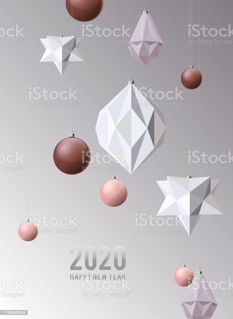 Contemporary Christmas Cards 2020 Christmas Background With White And Pale Pink Geometric Modern