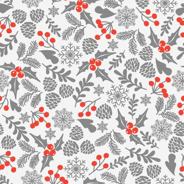 christmas backgrounds collection. - papier do pakowania stock illustrations