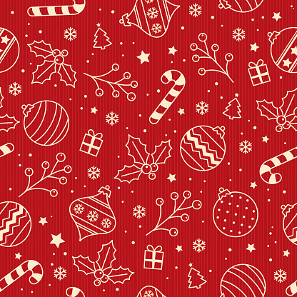 Christmas backgrounds, seamless pattern. Vector illustration.