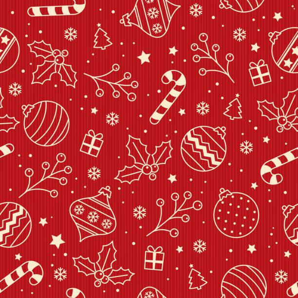 christmas backgrounds, seamless pattern. vector illustration. - holiday season stock illustrations