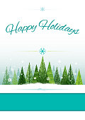 Happy holidays christmas invitation or poster background design