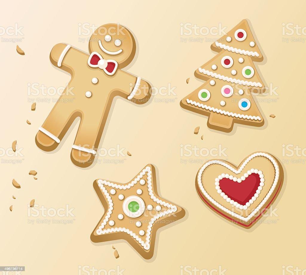 Christmas backing time vector art illustration