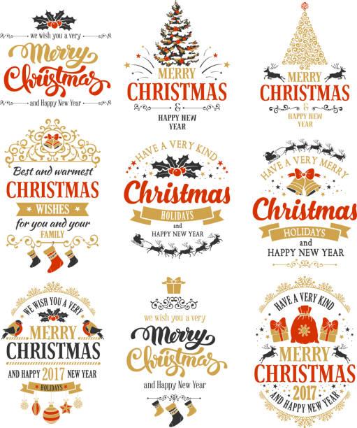 christmas badges set - クリスマス点のイラスト素材/クリップアート素材/マンガ素材/アイコン素材