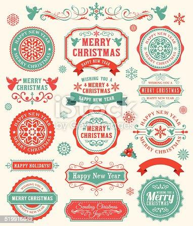 istock Christmas Badges 519916649