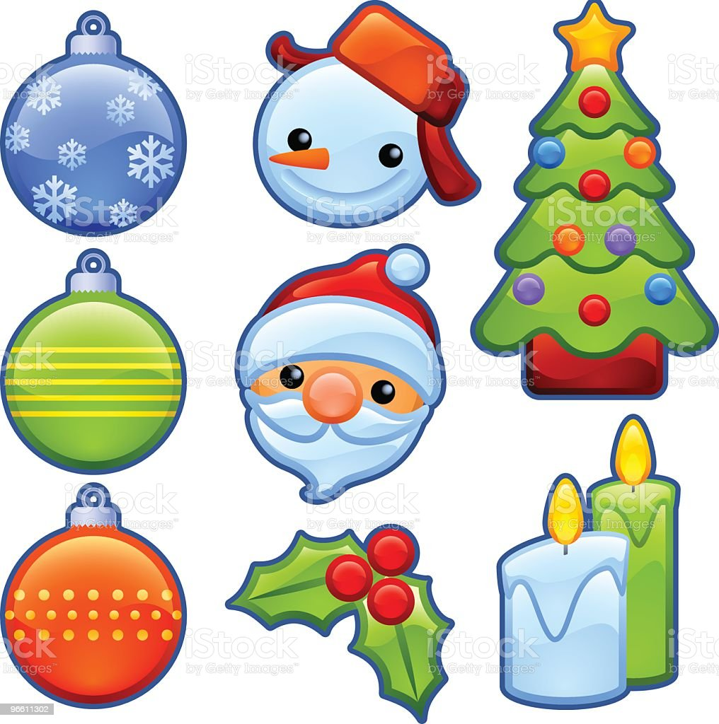 christmas badges - Royalty-free Badge stock vector