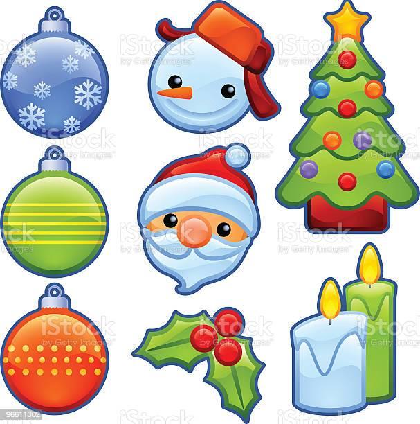 Christmas Badges-vektorgrafik och fler bilder på Blå