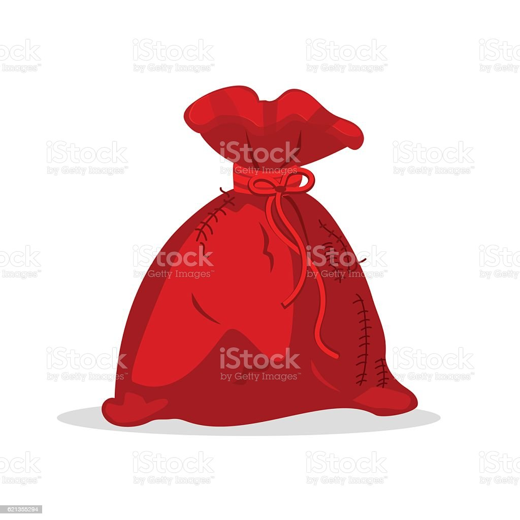 christmas bag santa claus vector illustration isolated on white