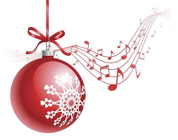 Christmas Music Clipart.Best Clip Art Of Christmas Music Notes Illustrations
