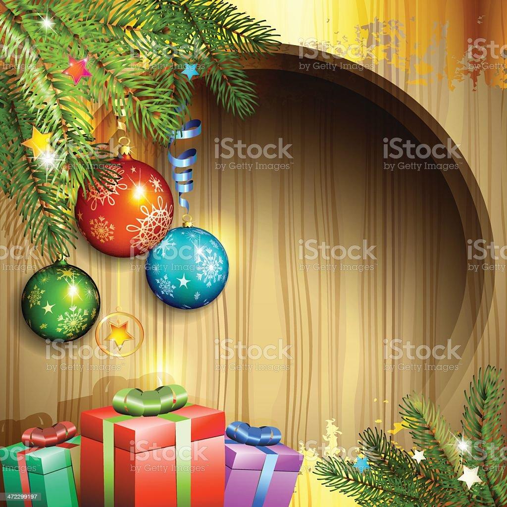 Christmas ball and gifts royalty-free stock vector art