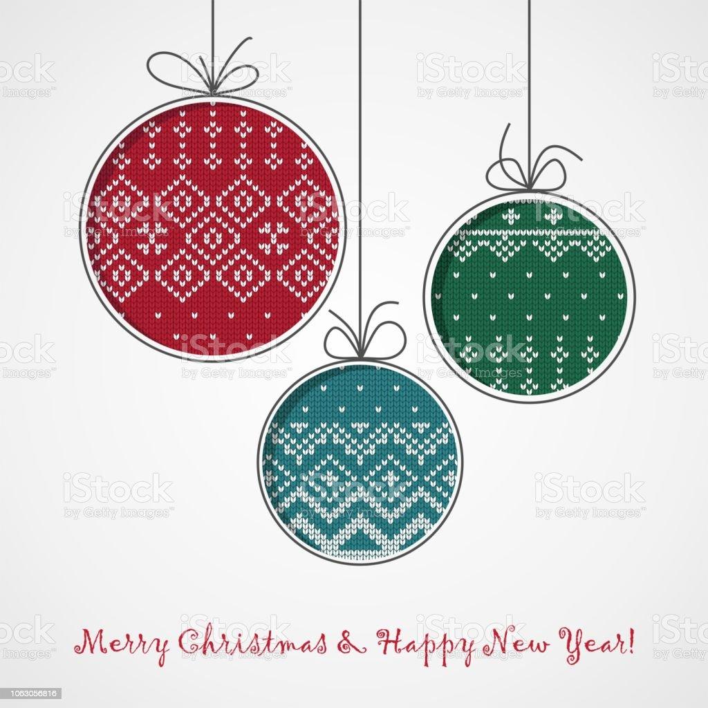 Weihnachtskarte Kugel Handgemachte Postkarte An Silvester Und ...