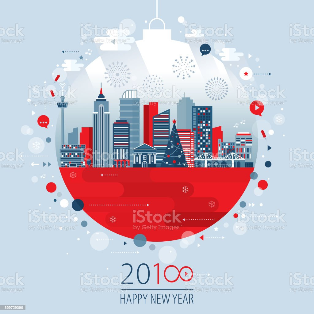 Christmas Ball Concept vector art illustration