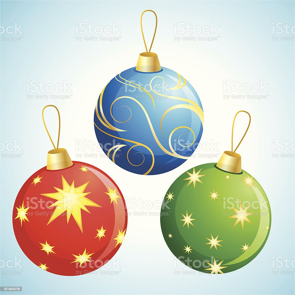 Christmas Ball Decoration royalty-free christmas ball decoration stock vector art & more images of blue