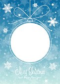 """Vector illustration of greeting card """"Merry Christmas"""""""