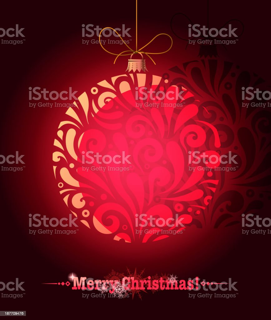 christmas ball greeting royalty-free stock vector art