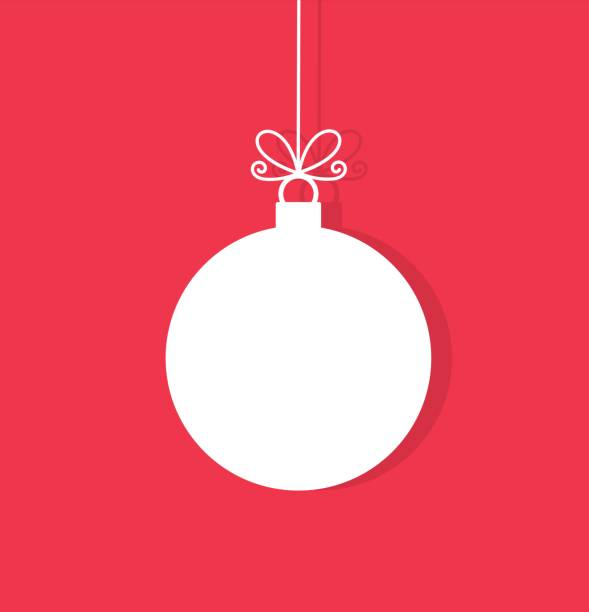 Christmas ball hanging ornament Christmas ball hanging ornament. Vector illustration christmas ornament stock illustrations