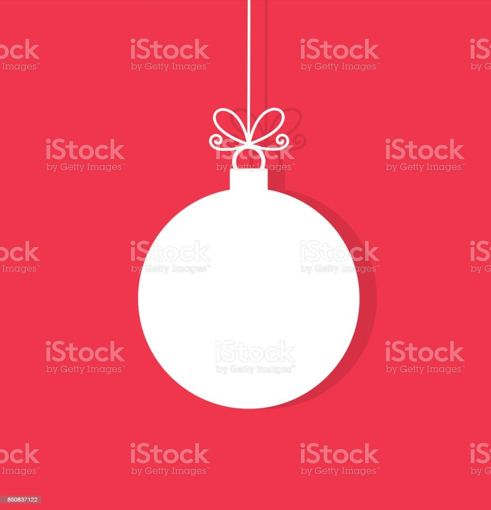 Christmas ball hanging ornament vector art illustration