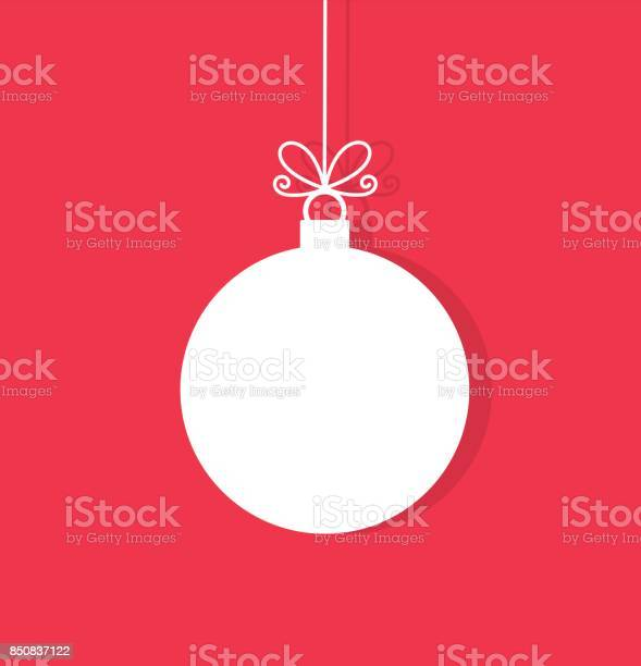 Christmas ball hanging ornament. Vector illustration