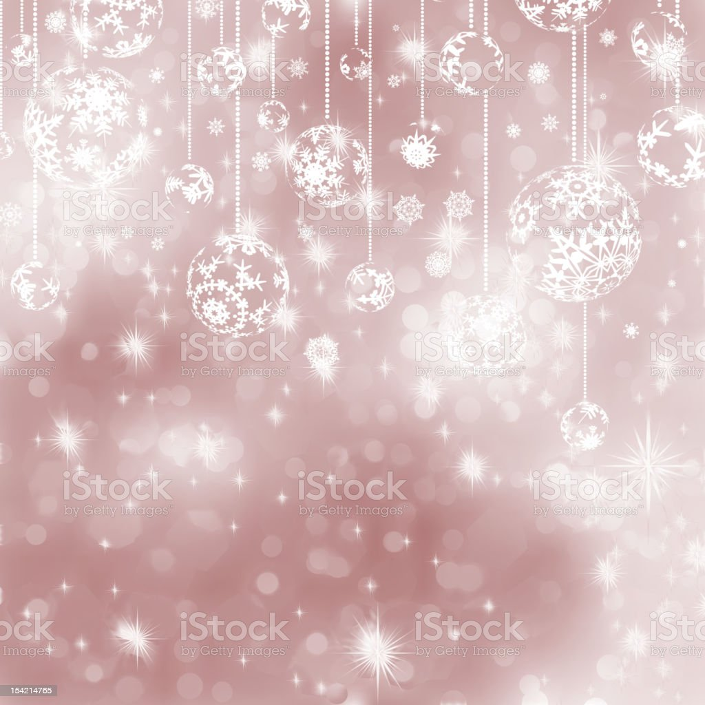 Christmas ball on abstract light background. EPS 8 royalty-free stock vector art