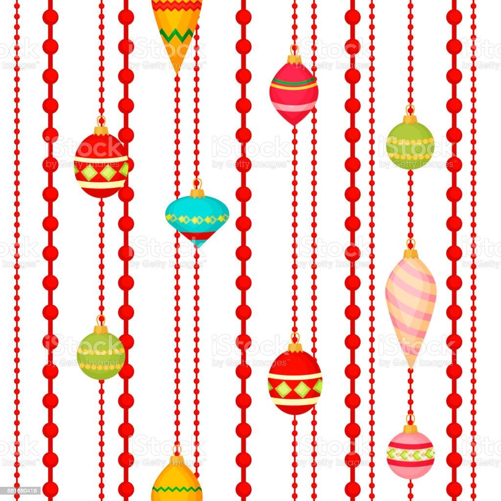Christmas ball seamless pattern colourful winter holiday xmas...