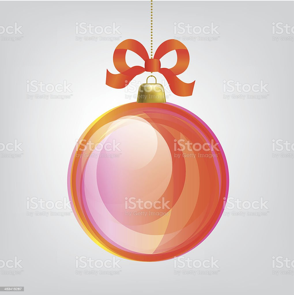 Christmas ball. Vector design elements royalty-free stock vector art