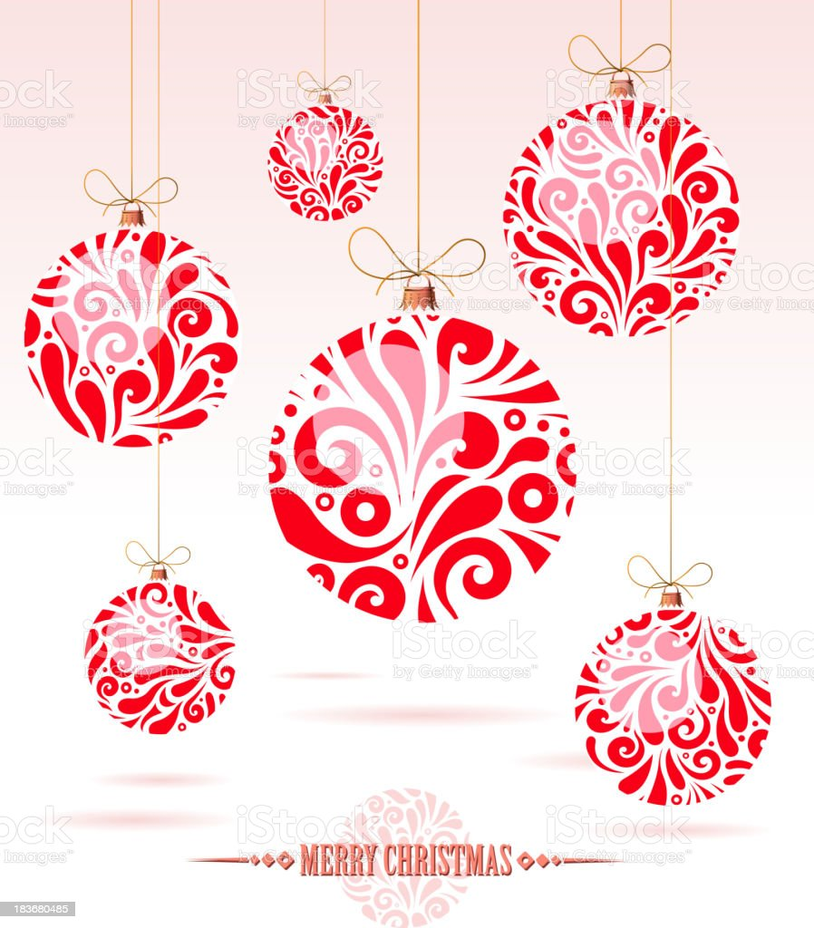 drawn of vector christmas ball.This file has been used illustrator...