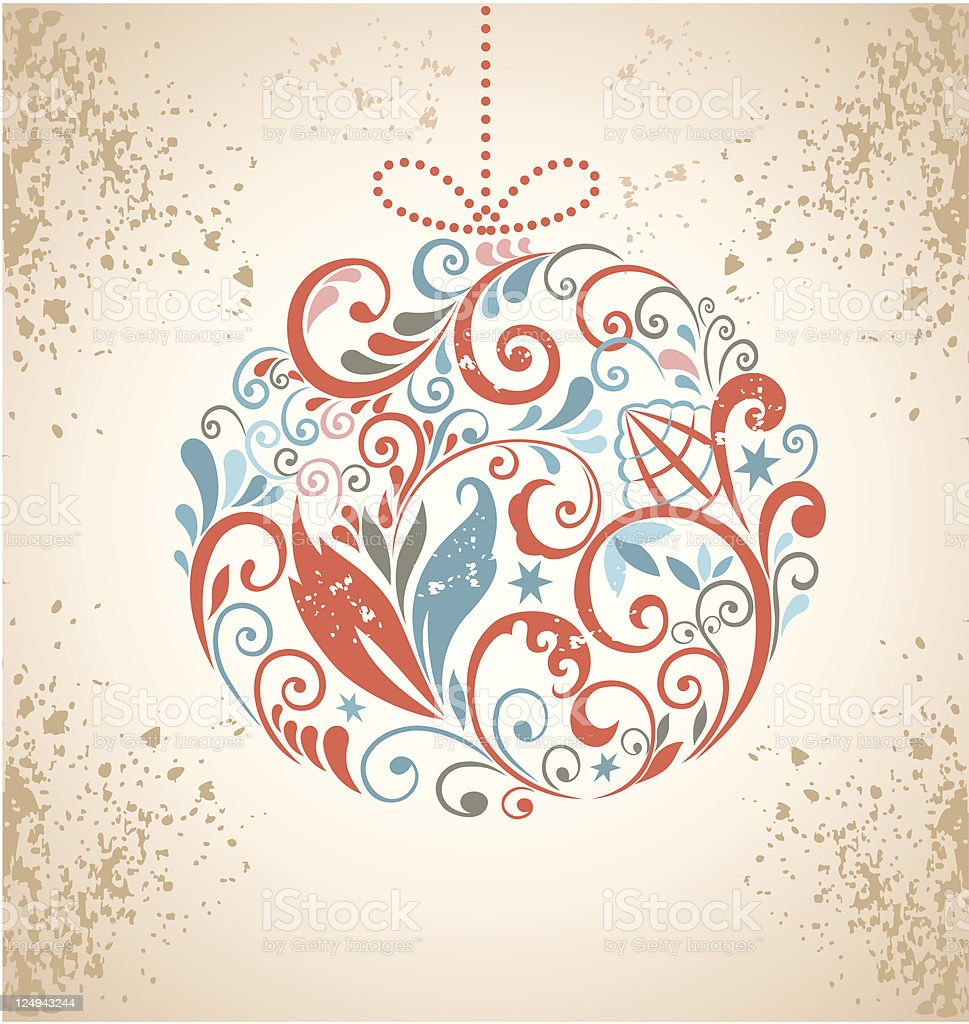 Christmas ball. Vintage background. royalty-free stock vector art