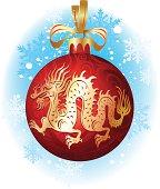 Christmas ball with dragon