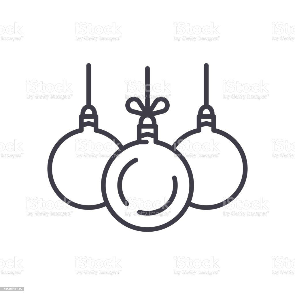 Christmas balls black icon concept. Christmas balls flat  vector symbol, sign, illustration. royalty-free christmas balls black icon concept christmas balls flat vector symbol sign illustration stock vector art & more images of art