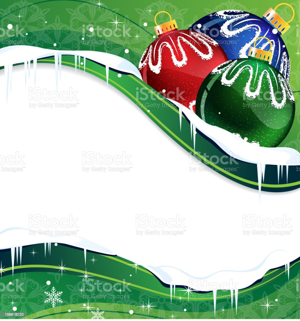 Christmas balls decoration on a green background royalty-free christmas balls decoration on a green background stock vector art & more images of abstract