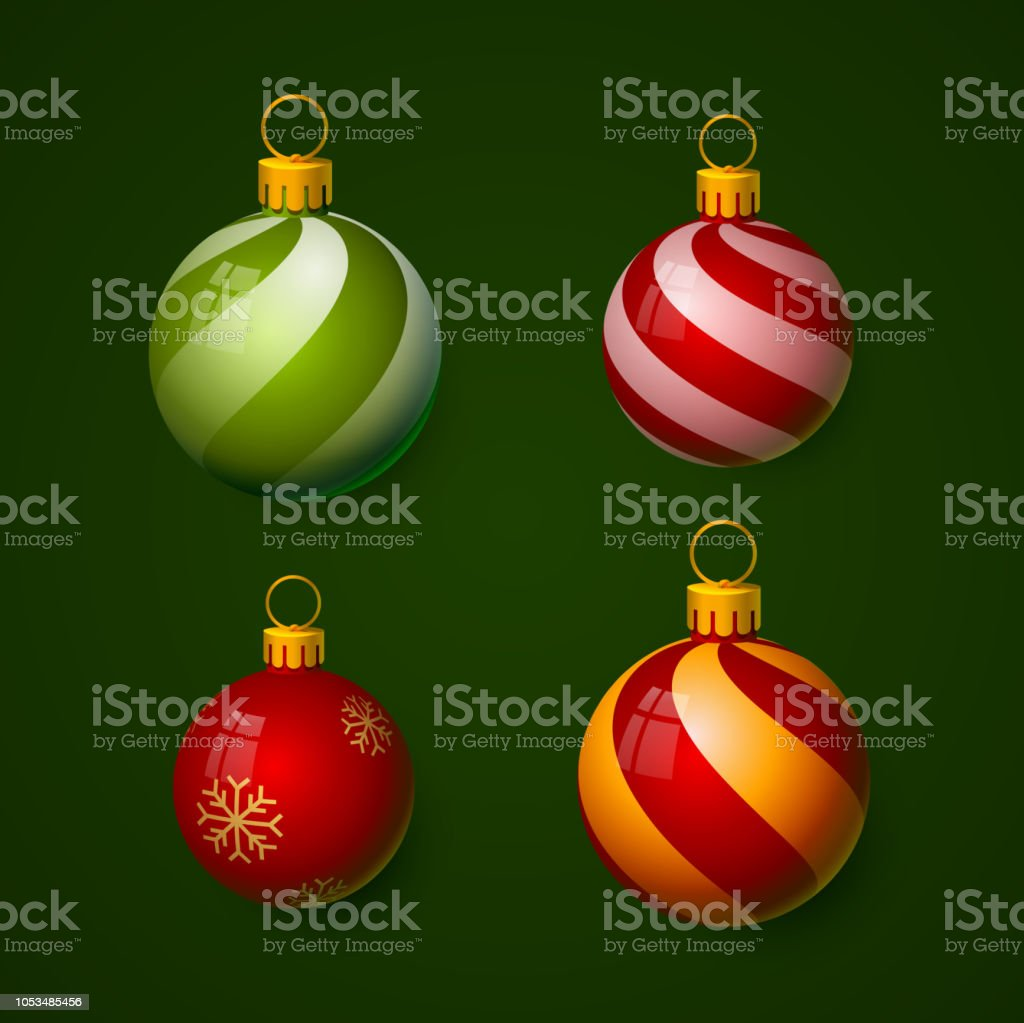 Christmas balls in the form of a ball. royalty-free christmas balls in the form of a ball stock illustration - download image now