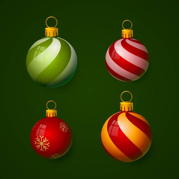stockillustraties, clipart, cartoons en iconen met kerstballen in de vorm van een bal. - kerstbal