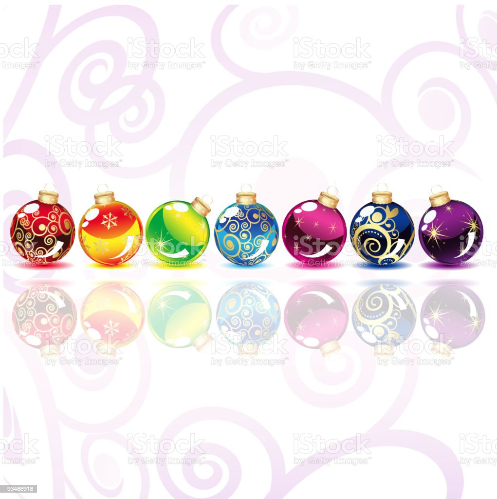 Christmas balls on a white background royalty-free stock vector art