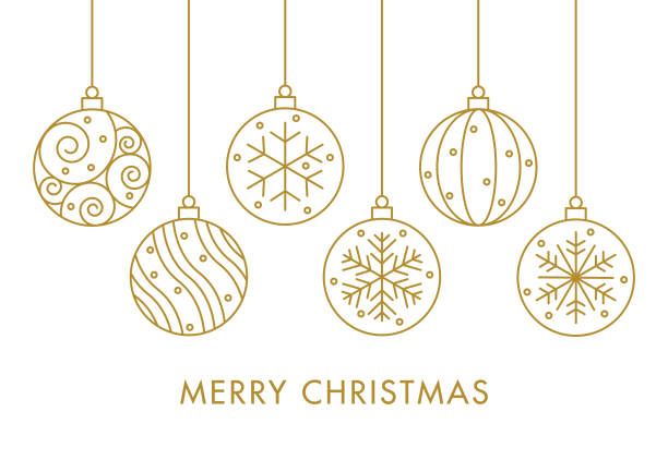 Christmas balls Eps10 vector illustration with layers (removeable) and high resolution jpeg file included (300dpi). christmas ornament stock illustrations