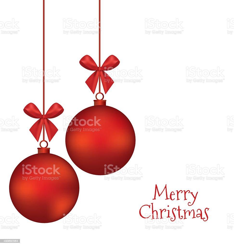 Christmas balls vector art illustration