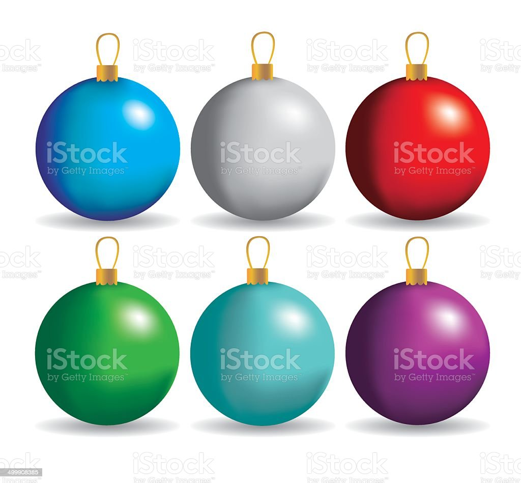 Christmas Balls Stock Vector Art & More Images of Advent 499908385 ...