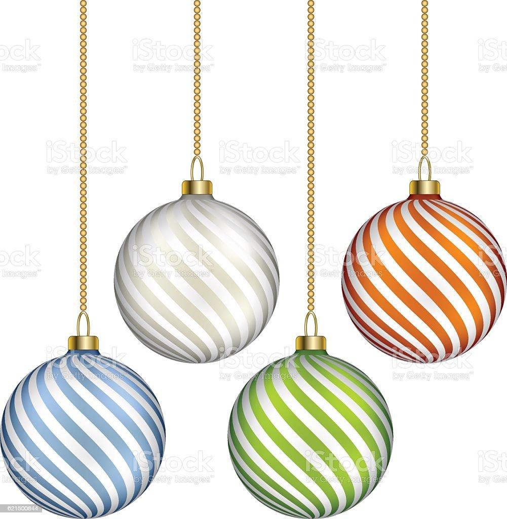 Boules de Noël  boules de noël – cliparts vectoriels et plus d'images de abstrait libre de droits
